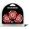 Team Golf Indiana Hoosiers Poker Chips Ball Markers - 3-Pack