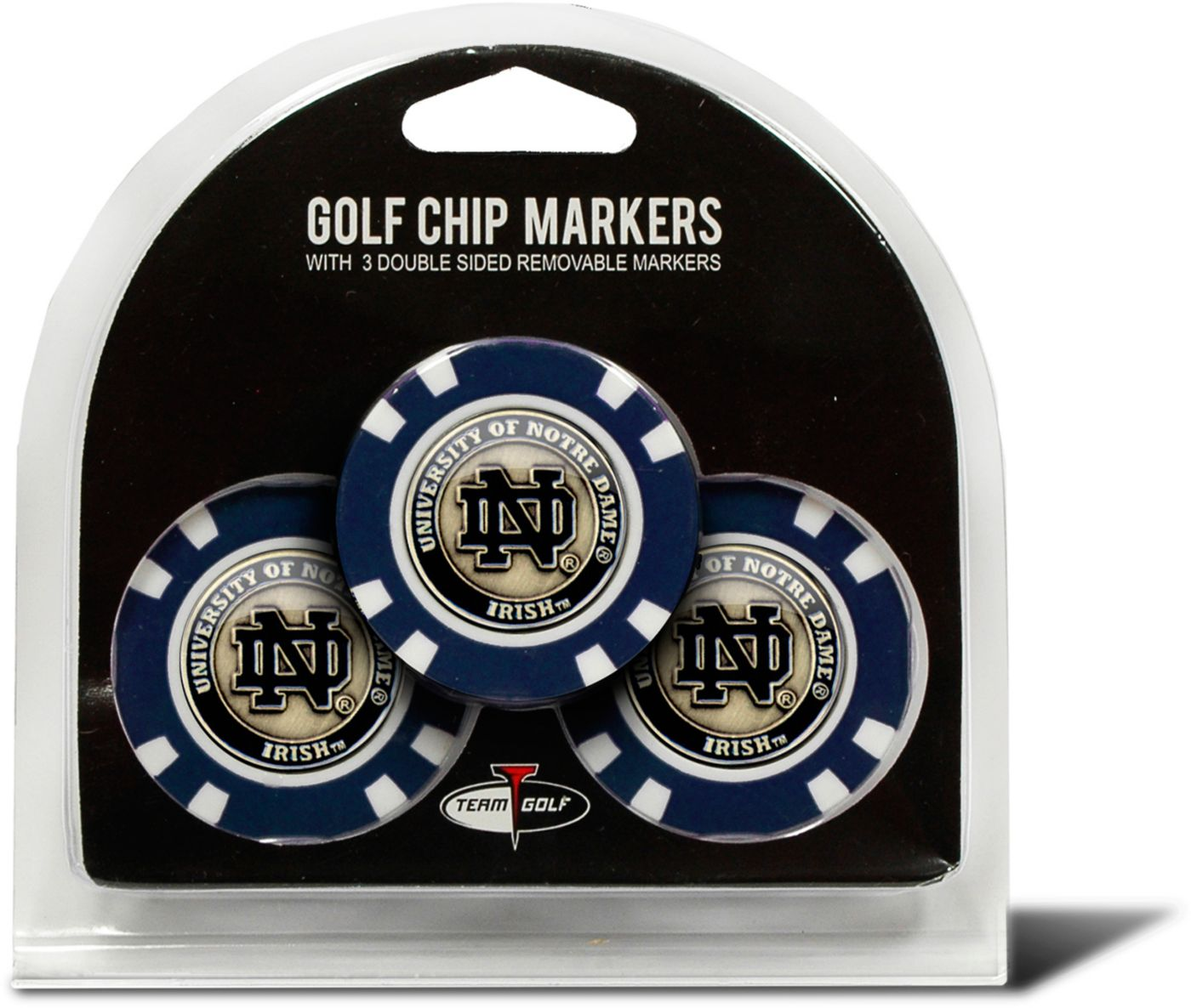 Team Golf Notre Dame Fighting Irish Poker Chips Ball Markers - 3-Pack