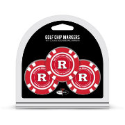 Team Golf Rutgers Scarlet Knights Poker Chips Ball Markers - 3-Pack