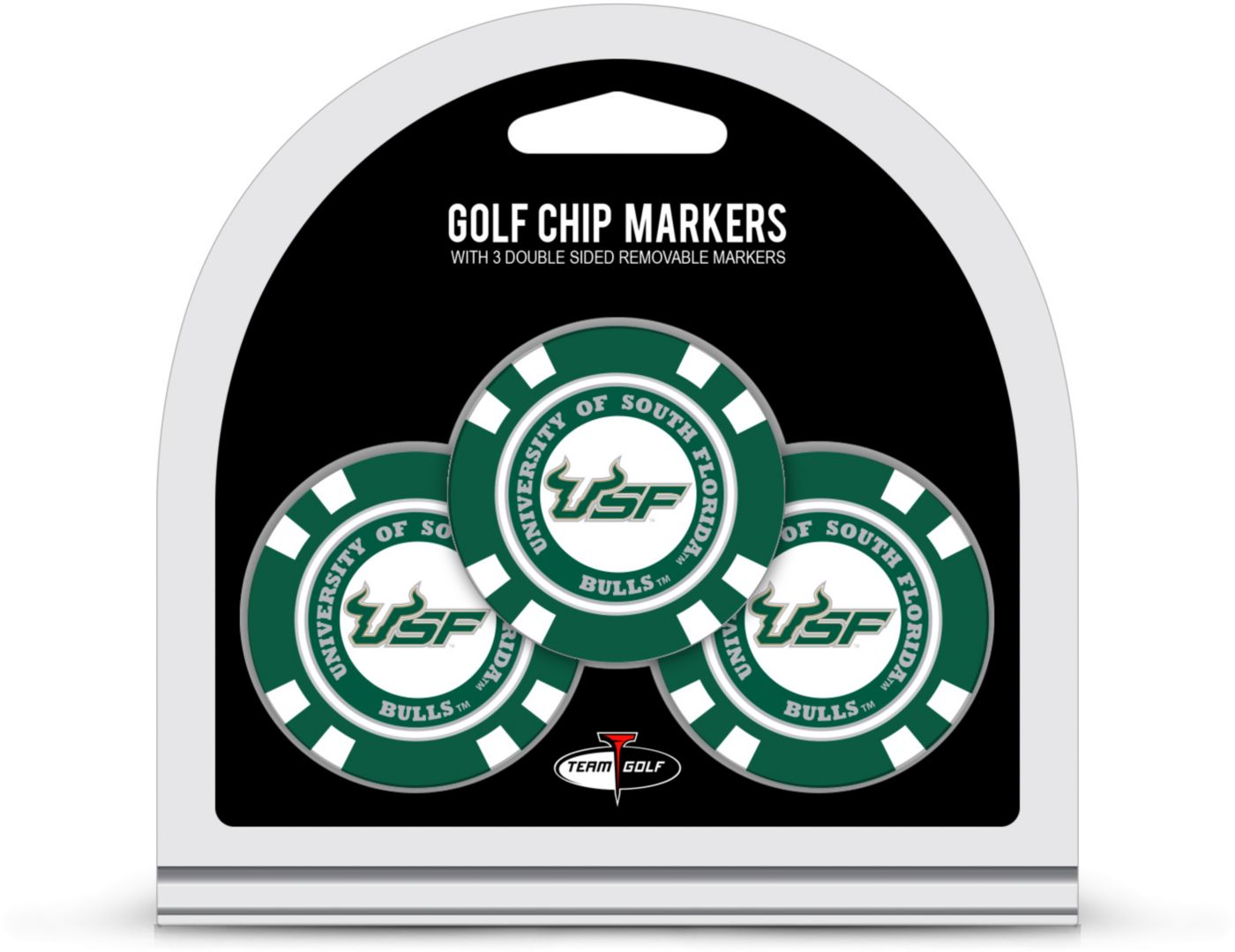 Team Golf South Florida Bulls Poker Chips Ball Markers - 3-Pack