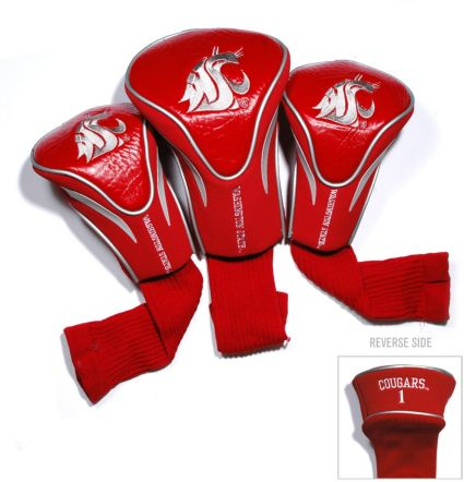 Team Golf Washington State Cougars Contour Headcovers - 3-Pack