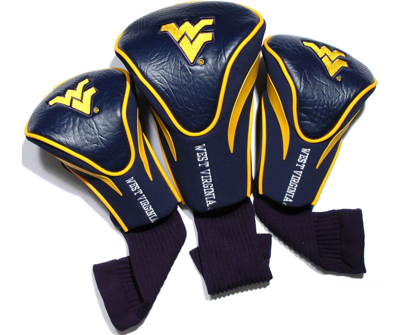 Team Golf West Virginia Mountaineers Contour Sock Headcovers - 3 Pack