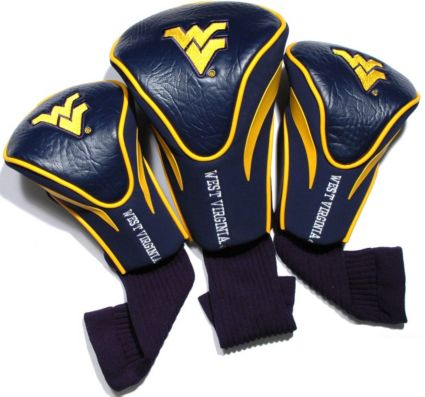 Team Golf West Virginia Mountaineers Contour Sock Headcovers - 3 Pack