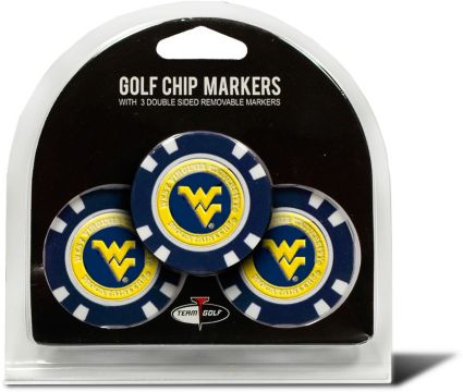 Team Golf West Virginia Mountaineers Golf Chips - 3 Pack