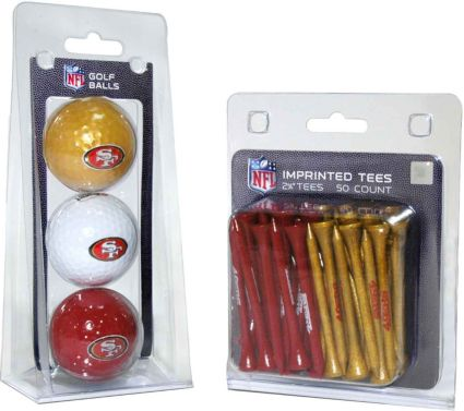 Team Golf San Francisco 49ers 3 Ball/50 Tee Combo Gift Pack