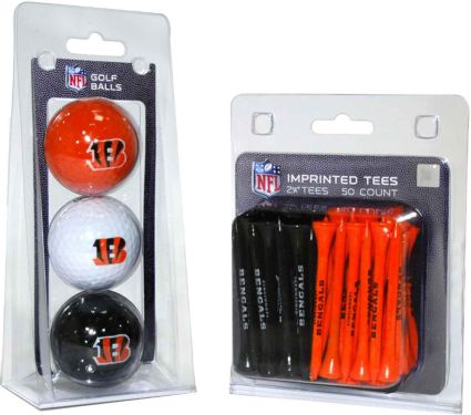 Team Golf Cincinnati Bengals Balls And Tees Gift Set