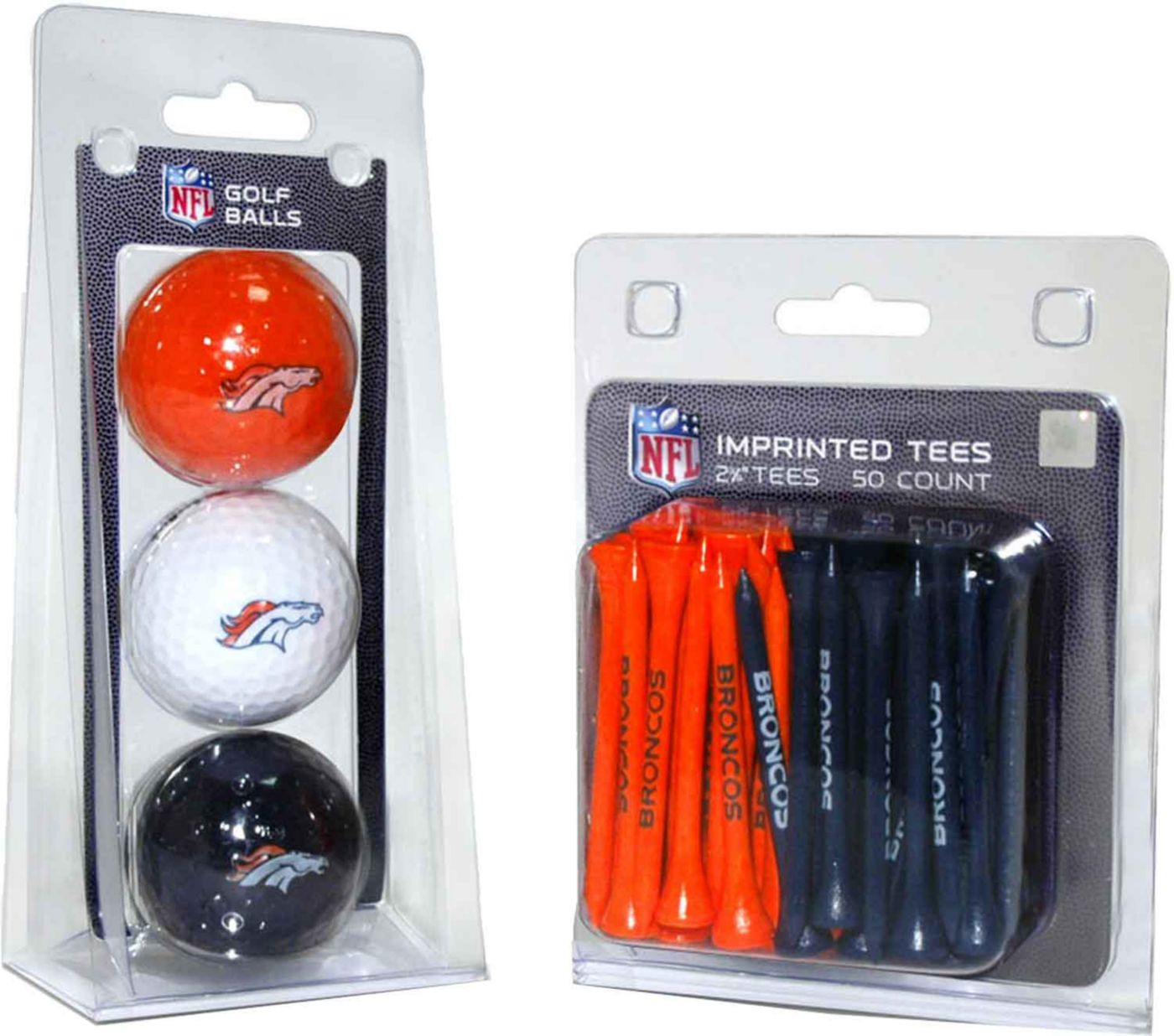 Team Golf Denver Broncos Balls And Tees Gift Set