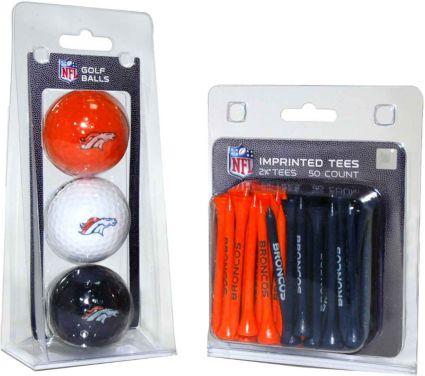 Team Golf Denver Broncos Balls And Tees Gift Set