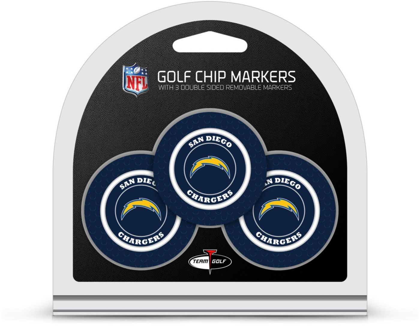 Team Golf San Diego Chargers Golf Chips - 3 Pack
