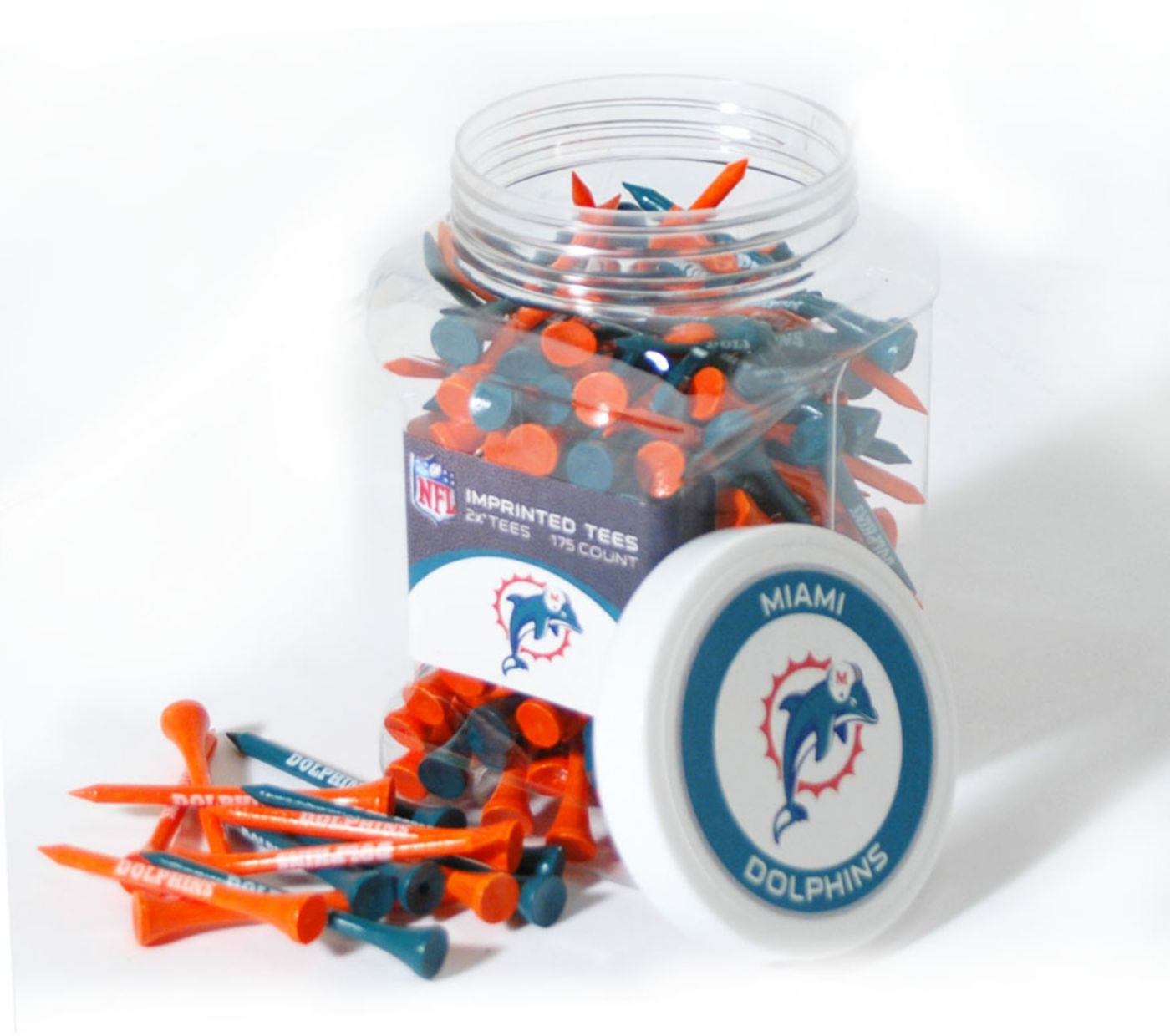 Team Golf Miami Dolphins Tee Jar - 175 Pack