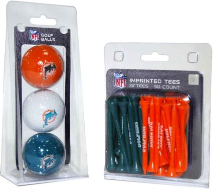 Team Golf Miami Dolphins Balls And Tees Gift Set