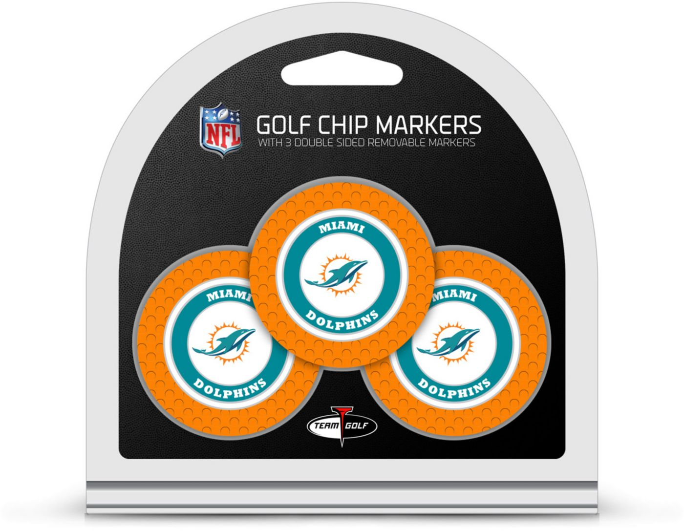 Team Golf Miami Dolphins Golf Chips - 3 Pack