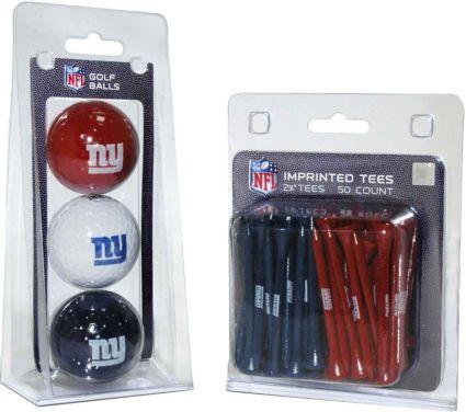 Team Golf New York Giants Balls And Tees Gift Set