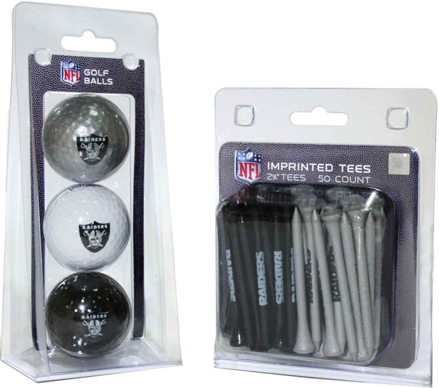 Team Golf Oakland Raiders 3 Ball/50 Tee Combo Gift Pack