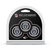 Team Golf Oakland Raiders Poker Chips Ball Markers - 3-Pack