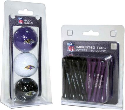 Team Golf Baltimore Ravens Balls And Tees Gift Set