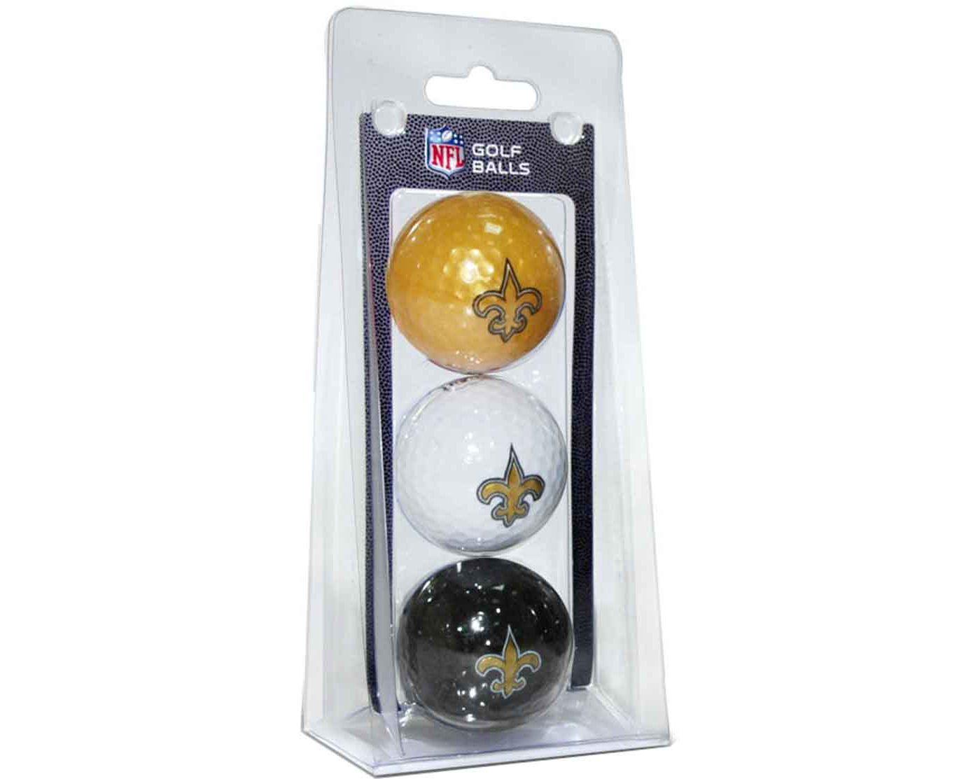 Team Golf New Orleans Saints Golf Balls – 3 Pack