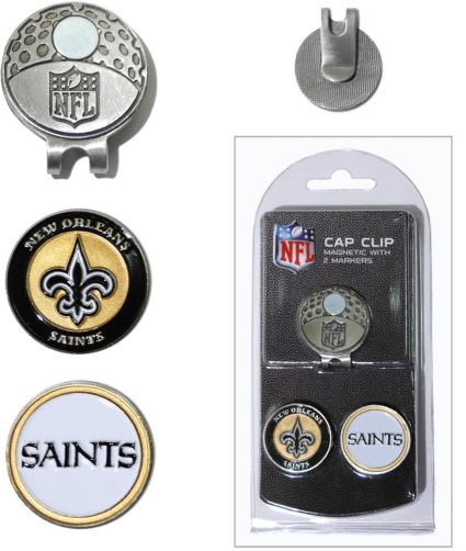 Team Golf New Orleans Saints Two-Marker Cap Clip