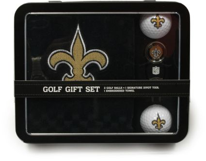 Team Golf New Orleans Saints Embroidered Towel Tin Gift Set