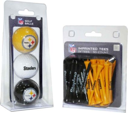 Team Golf Pittsburgh Steelers Balls And Tees Gift Set
