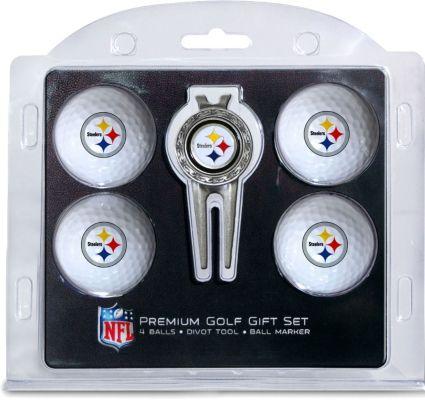 Team Golf Pittsburgh Steelers 4-Ball Gift Set