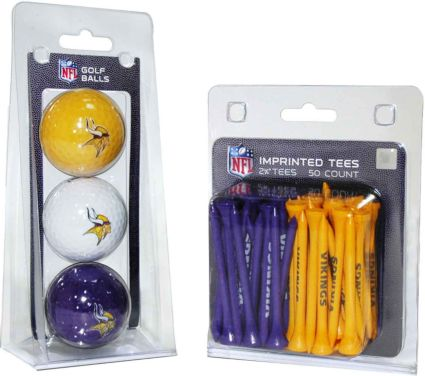 Team Golf Minnesota Vikings Balls And Tees Gift Set