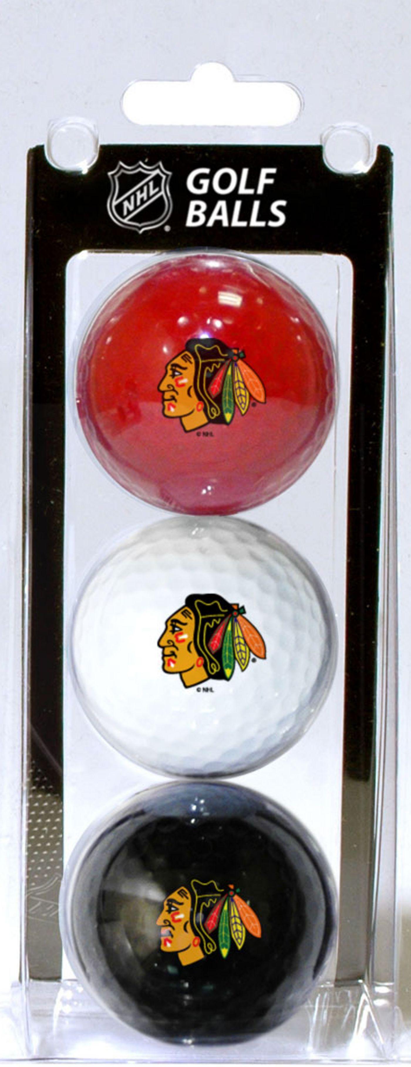 Team Golf Chicago Blackhawks Golf Balls - 3 Pack