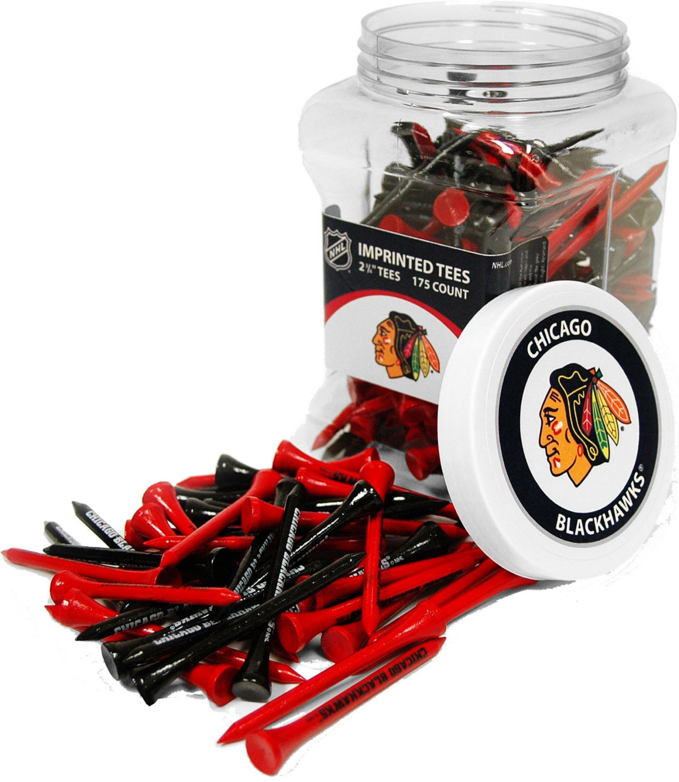 Team Golf Chicago Blackhawks Tee Jar - 175 Pack