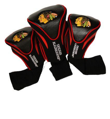 Team Golf Chicago Blackhawks Contour Sock Headcovers - 3 Pack