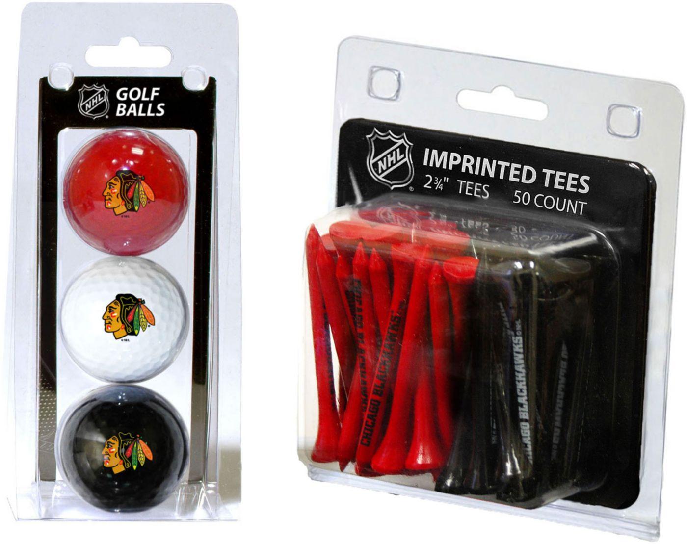 Team Golf Chicago Blackhawks 3 Ball/50 Tee Combo Gift Pack