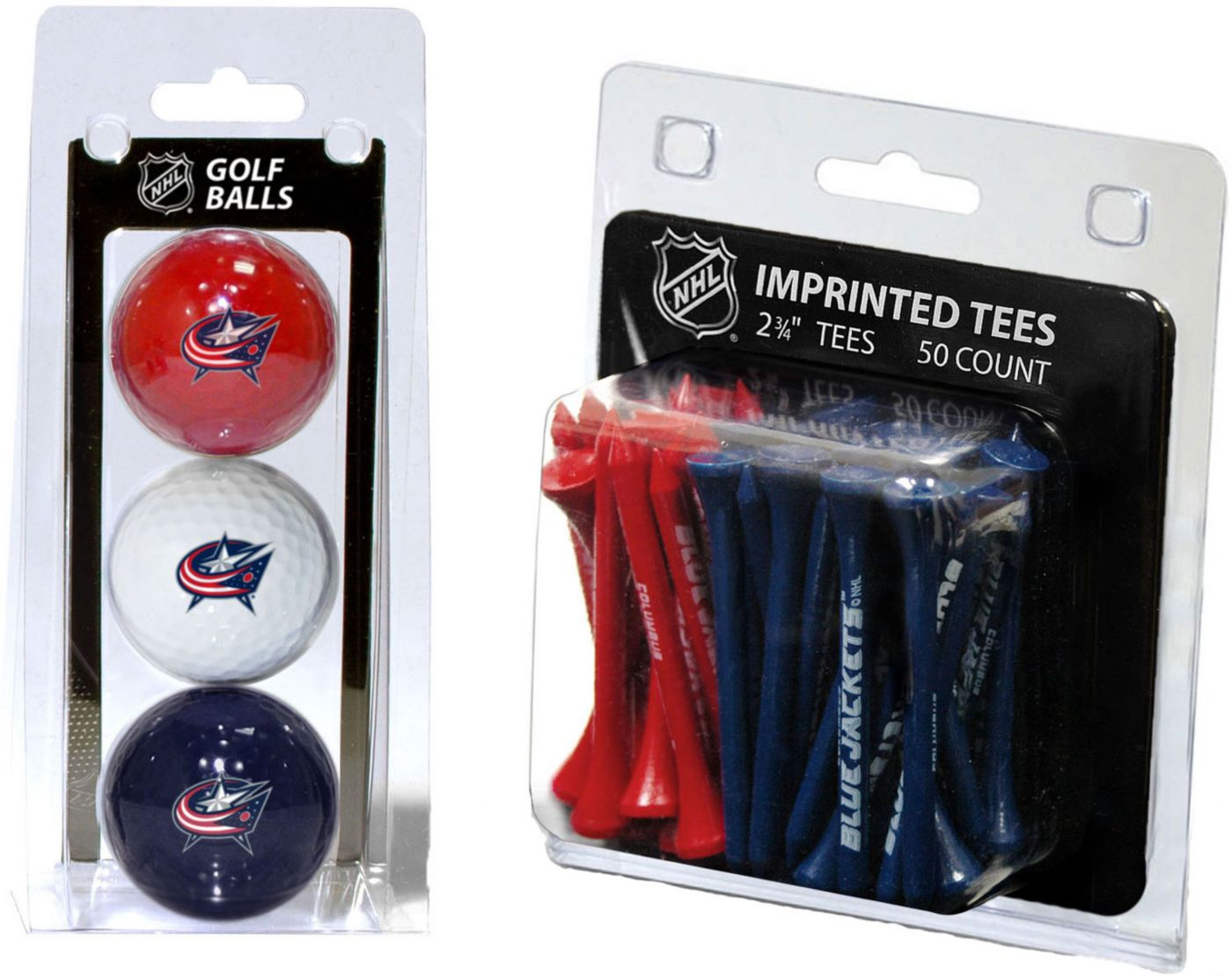 Team Golf Columbus Blue Jackets 3 Ball/50 Tee Combo Gift Pack