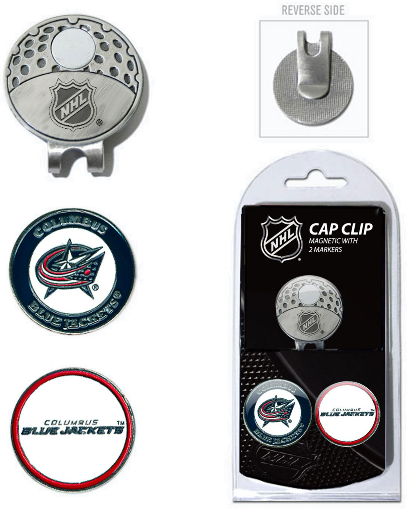 Team Golf Columbus Blue Jackets Cap Clip And Marker Set