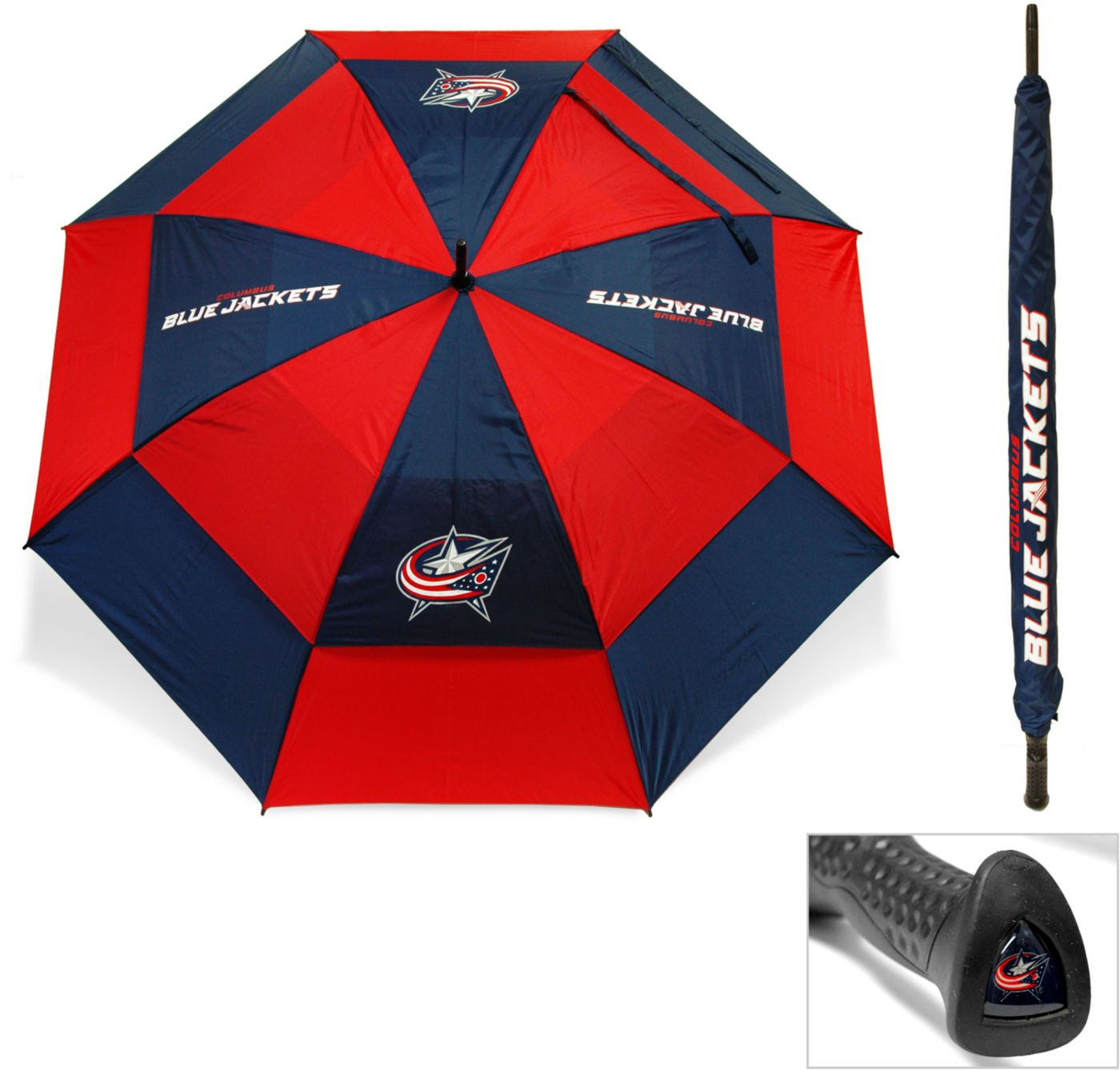"Team Golf Columbus Blue Jackets 62"" Double Canopy Umbrella"