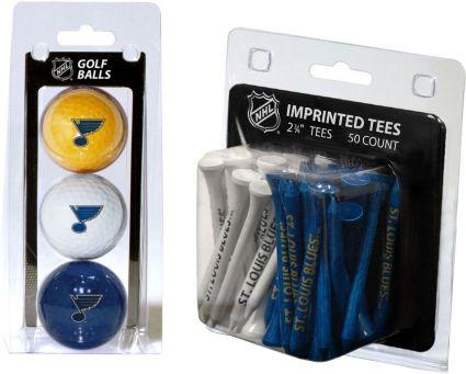 Team Golf St. Louis Blues 3 Ball/50 Tee Combo Gift Pack