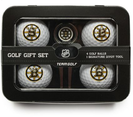 Team Golf Boston Bruins 4-Ball Tin Gift Set