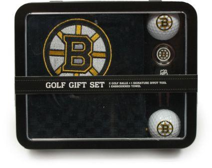 Team Golf Boston Bruins Embroidered Towel Tin Gift Set