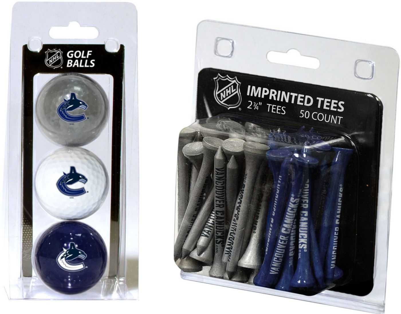 Team Golf Vancouver Canucks 3 Ball/50 Tee Combo Gift Pack