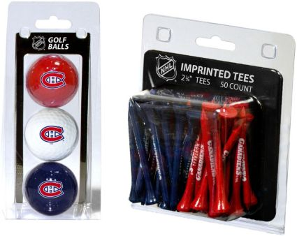 Team Golf Montreal Canadiens 3 Ball/50 Tee Combo Gift Pack