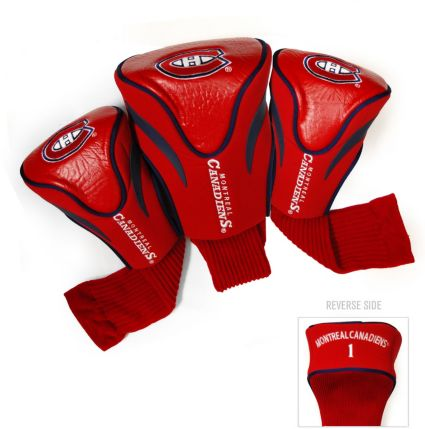 Team Golf Montreal Canadiens Contour Sock Headcovers - 3 Pack