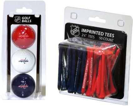 Team Golf Washington Capitals Balls And Tees Gift Set