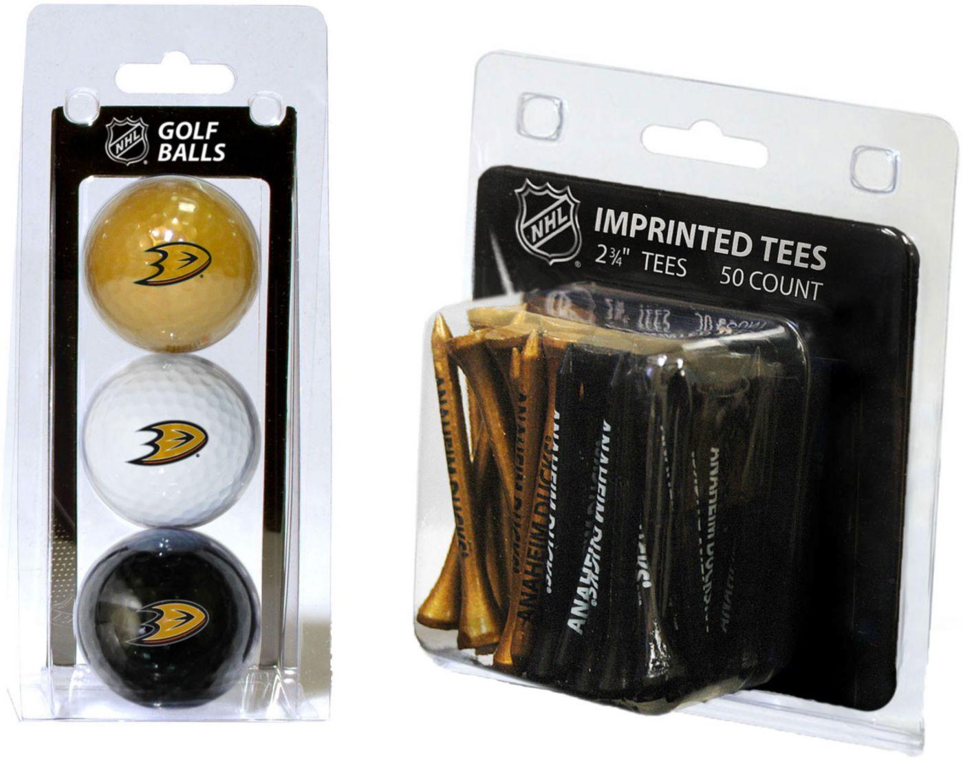 Team Golf Anaheim Ducks 3 Ball/50 Tee Combo Gift Pack