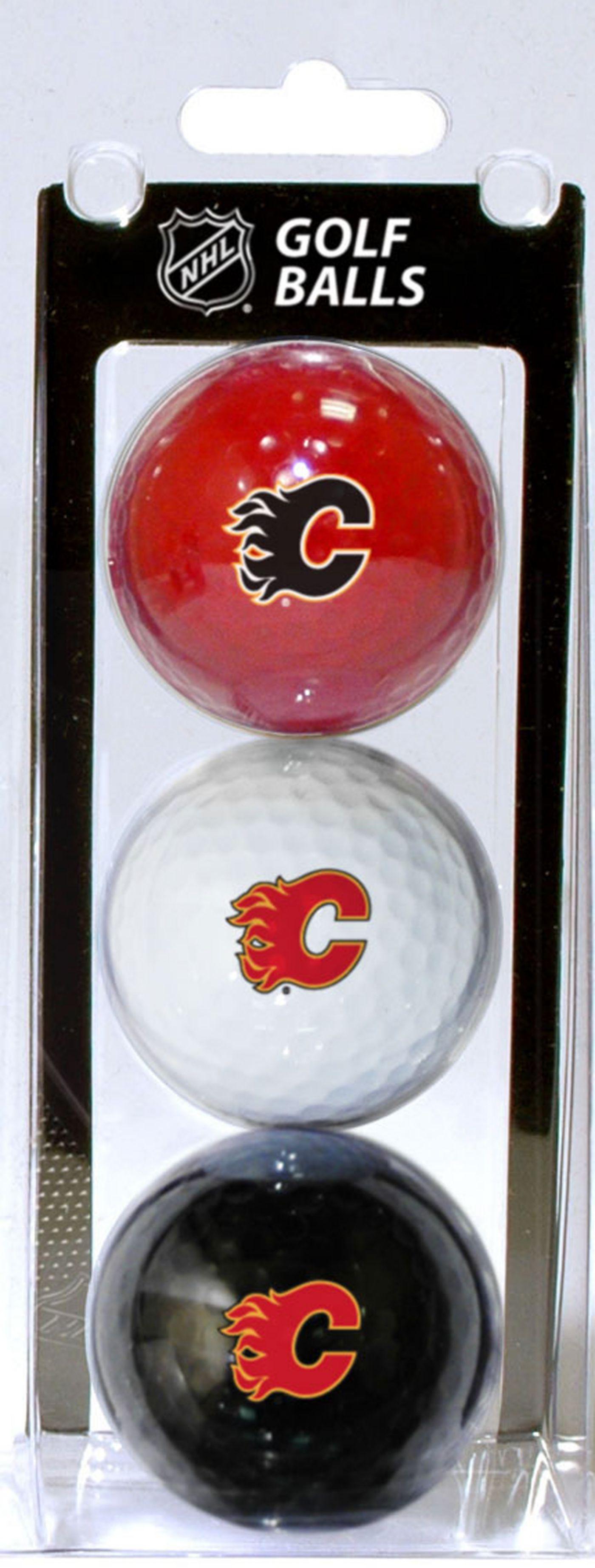 Team Golf Calgary Flames Three Pack Golf Ball Set