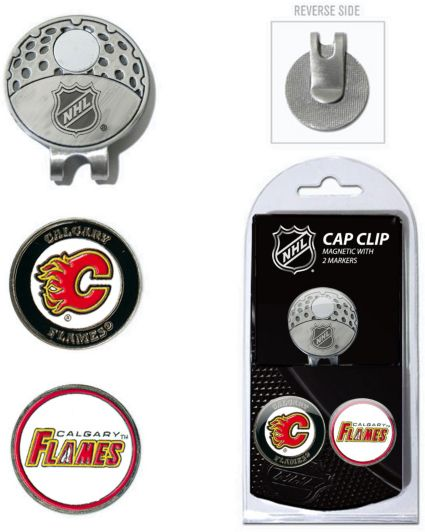Team Golf Calgary Flames Cap Clip And Marker Set