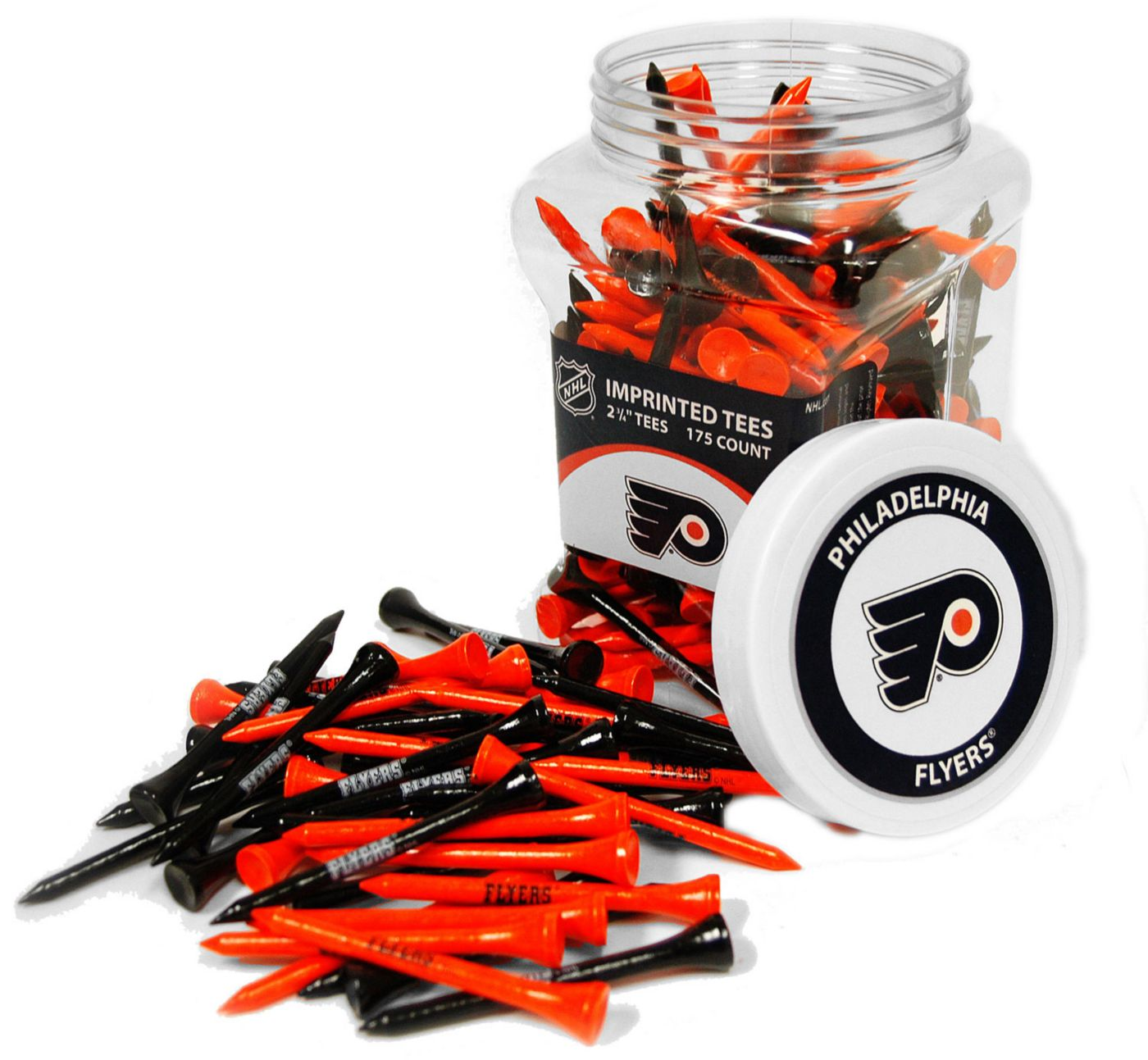 Team Golf Philadelphia Flyers 175 Count Golf Tee Jar