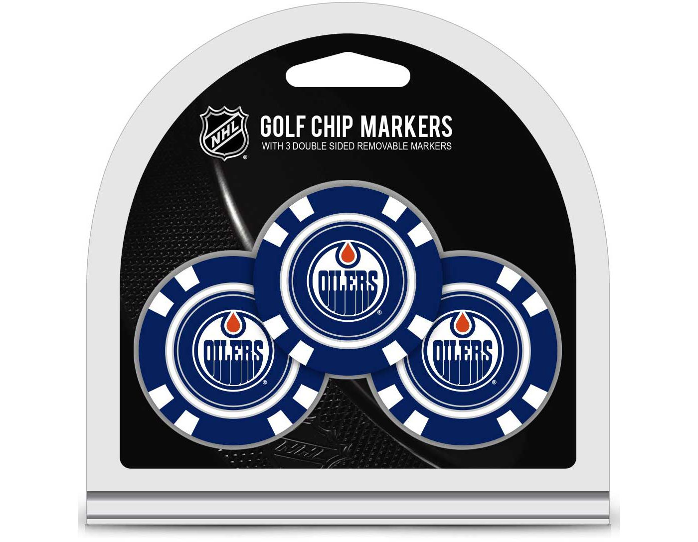 Team Golf Edmonton Oilers Poker Chips Ball Markers - 3-Pack