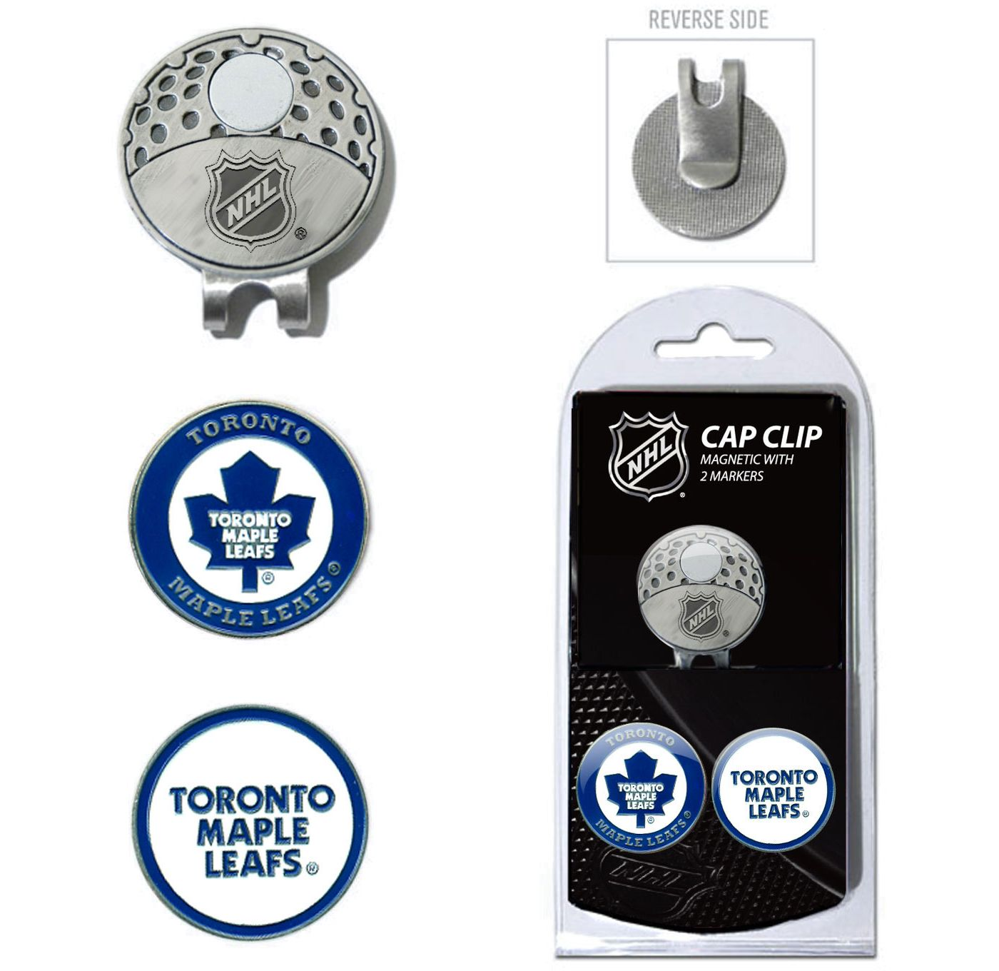 Team Golf Toronto Maple Leafs Cap Clip And Marker Set