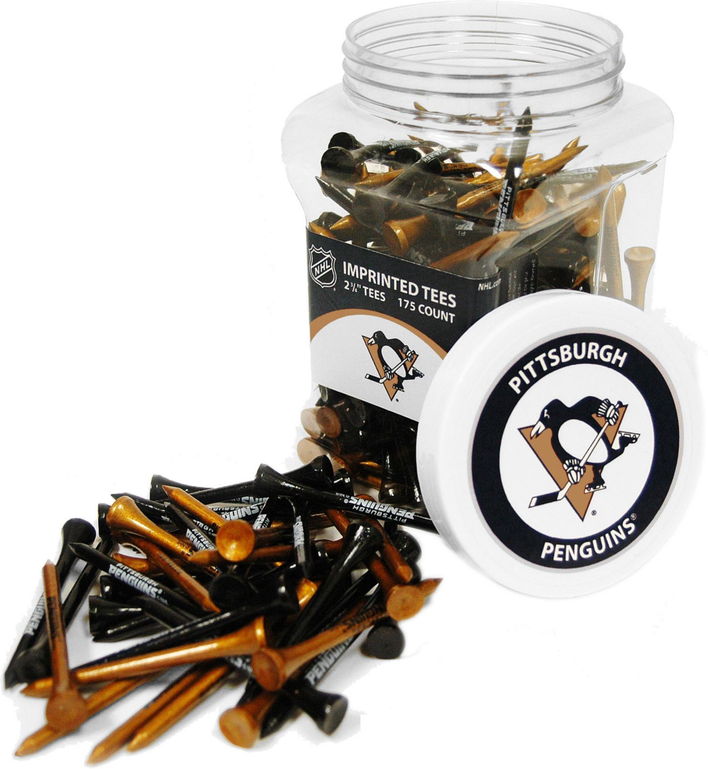 Team Golf Pittsburgh Penguins Tee Jar - 175 Pack
