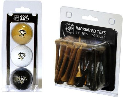 Team Golf Pittsburgh Penguins 3 Ball/50 Tee Combo Gift Pack