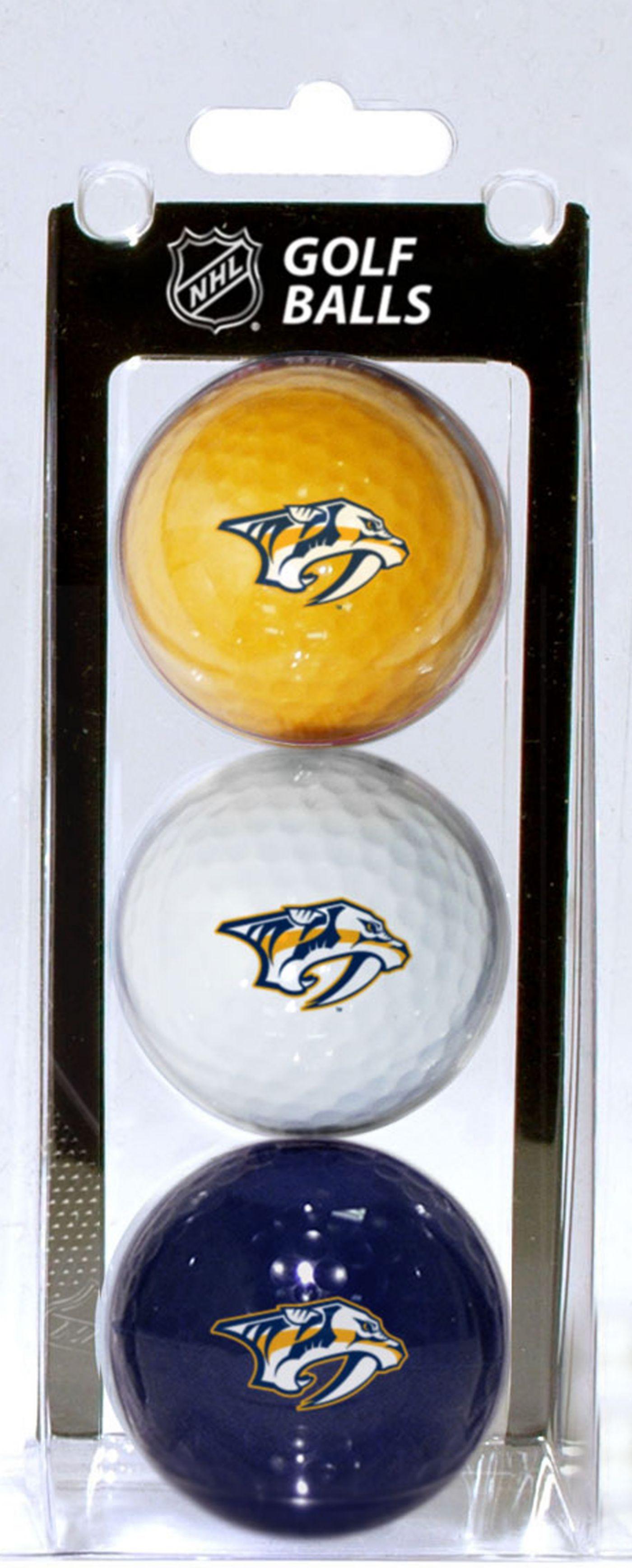 Team Golf Nashville Predators Three Pack Golf Ball Set