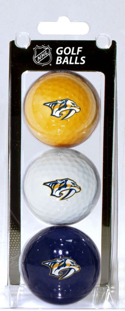 Team Golf Nashville Predators Three Pack Golf Ball Set